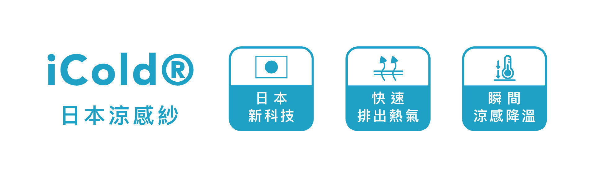 【卡麗 三線冰晶乳膠獨立筒】採用日本iCOLD涼感紗技術,具有優異吸熱與散熱,並迅速降低體感溫度。