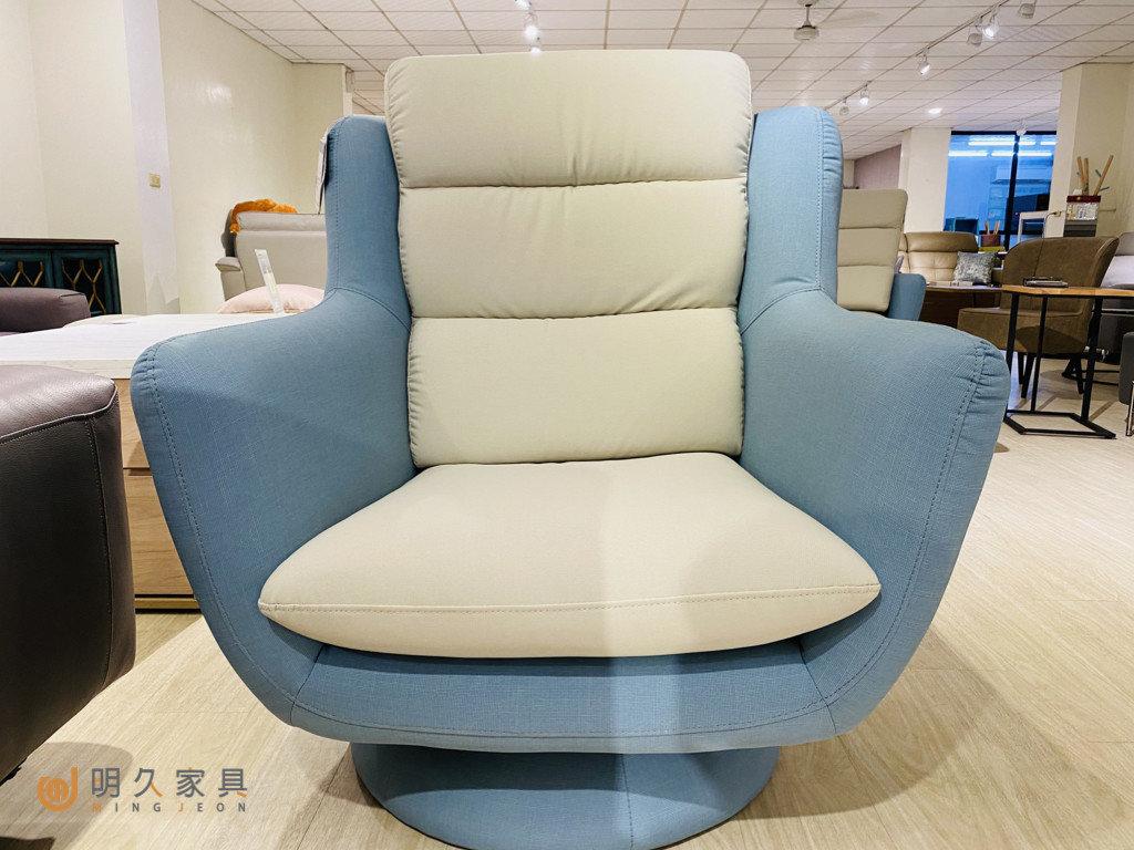 文青型沙發:伊娃沙發,旋轉主人椅,大幅提升單人座沙發坐感