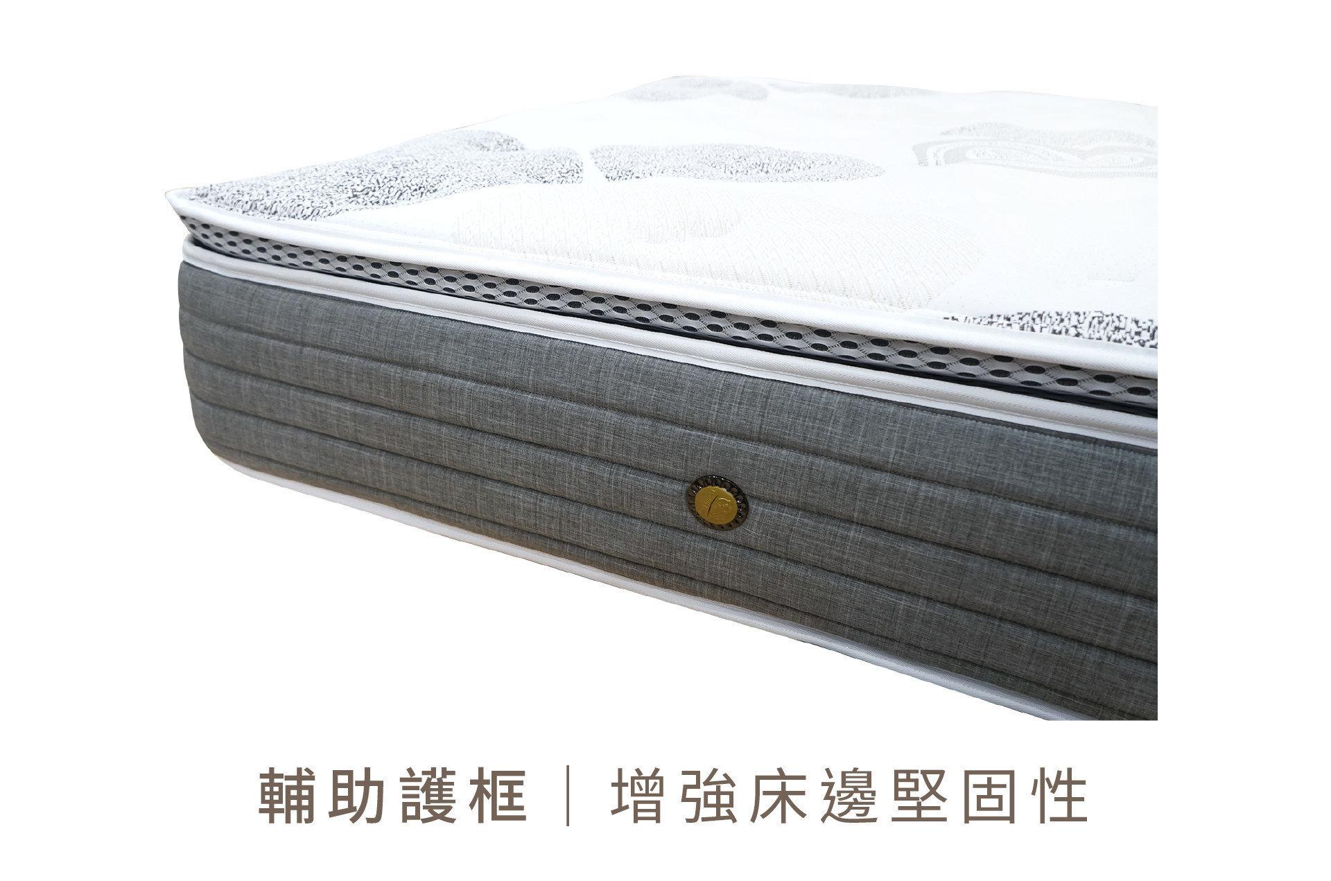 【歐文 三段式護背防蚊床】床沿加裝護框設計,增加兼顧性,上下床更安心!