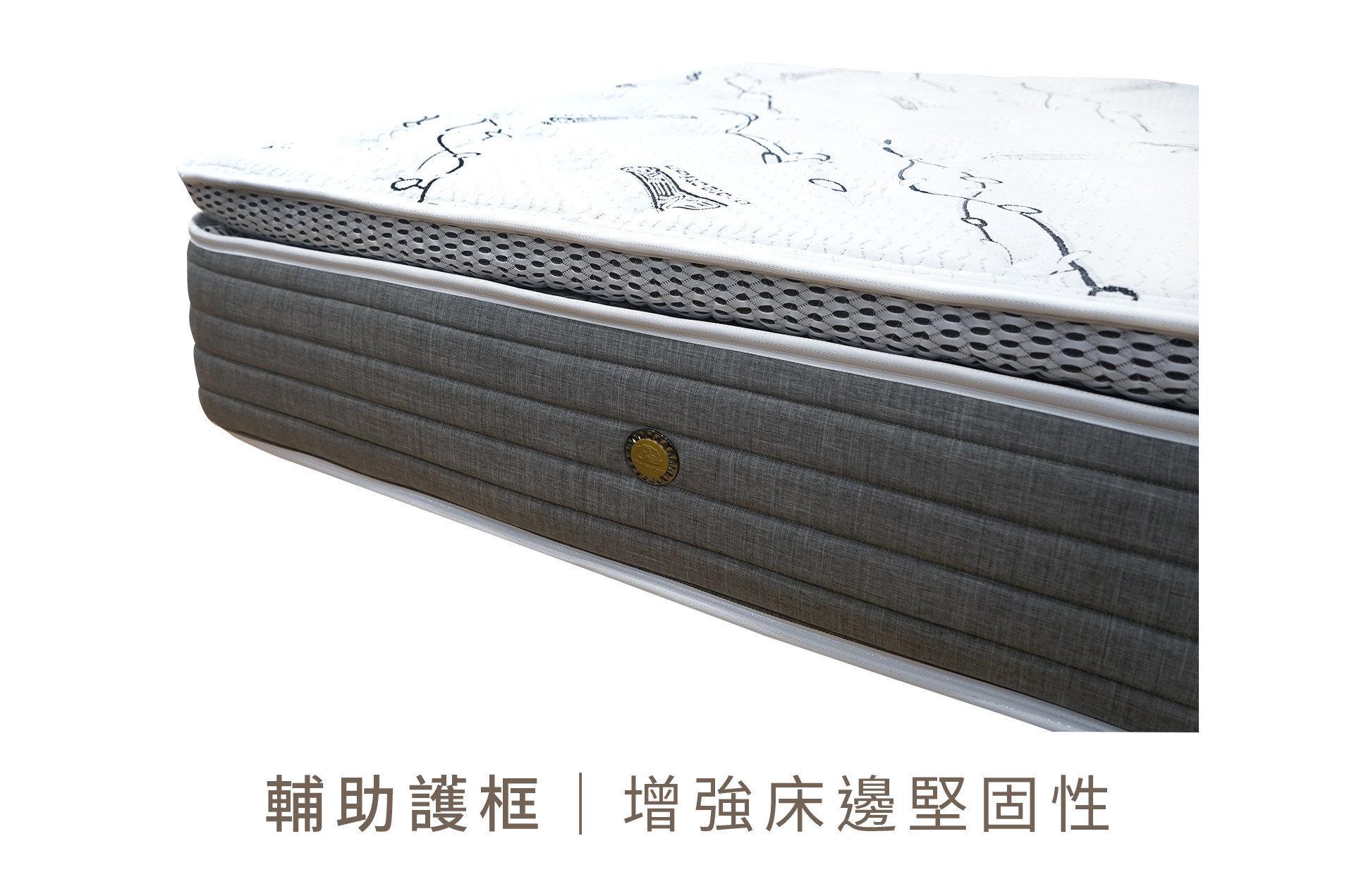 【諾拉 銀離子抗菌床】床沿加裝輔助護框,加強堅固性級安全性!