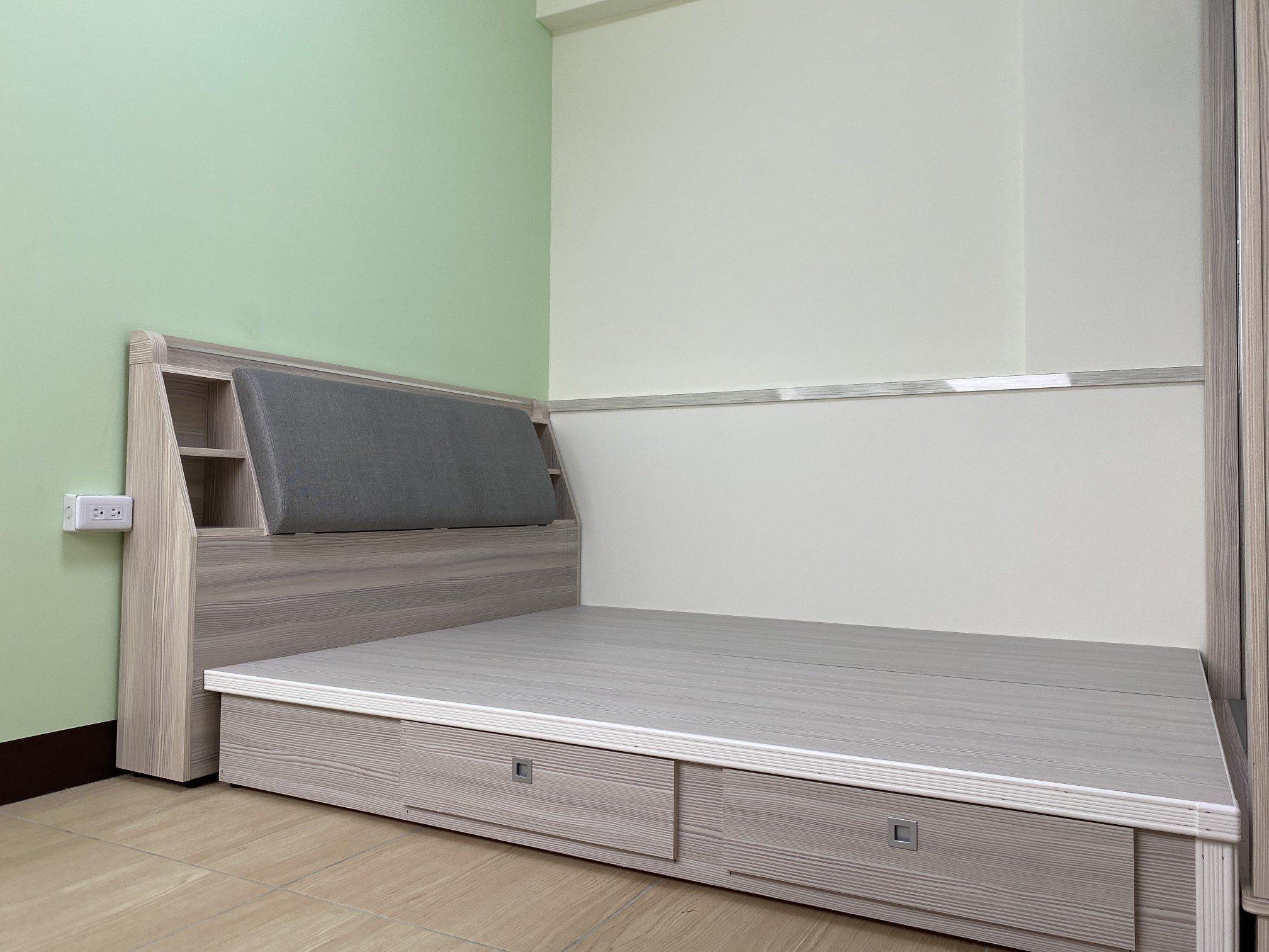 客戶陳小姐臥房床組實例,尺寸配置剛剛好
