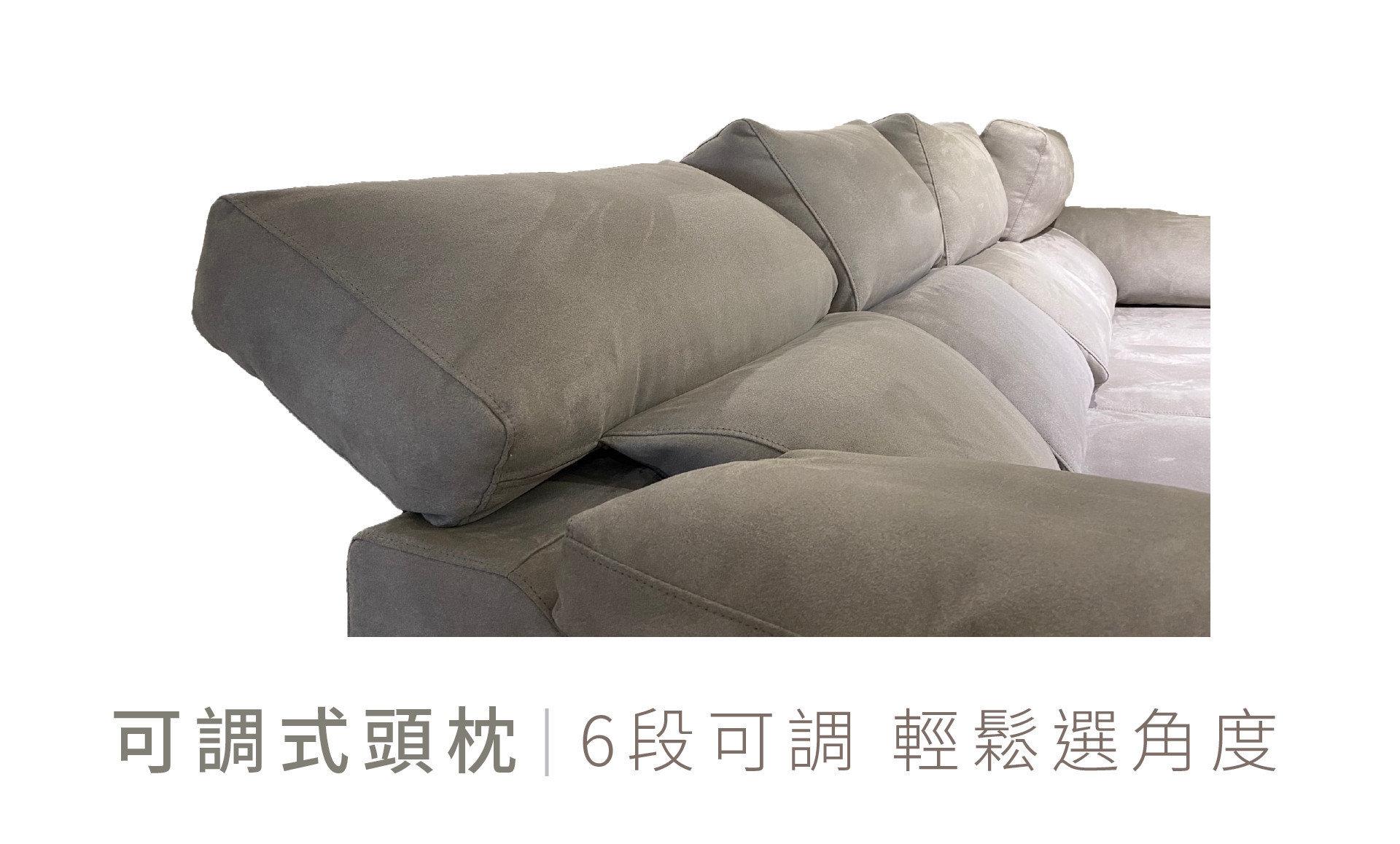 LONG LEGS 長腿叔叔沙發特色:六段可調式頭枕,隨您喜歡